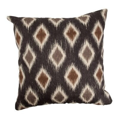 Haber Diamond Cotton Throw Pillow Color: Black / Brown, Size: 18x18