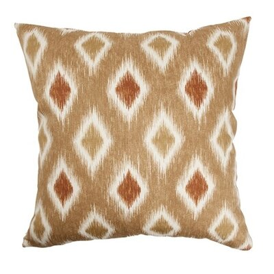 Haber Diamond Cotton Throw Pillow Color: Canyon, Size: 18x18