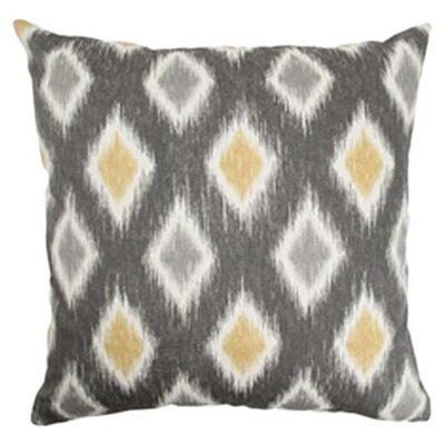 Haber Diamond Cotton Throw Pillow Color: Graphite, Size: 18x18