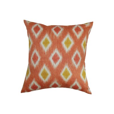 Haber Diamond Cotton Throw Pillow Color: Melon, Size: 18x18