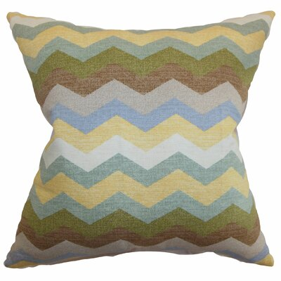 Espinal Zigzag Cotton Throw Pillow Color: Pebble, Size: 20 x 20