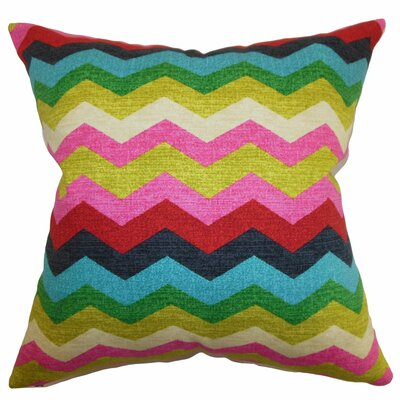 Espinal Zigzag Cotton Throw Pillow Color: Dessert, Size: 18x18