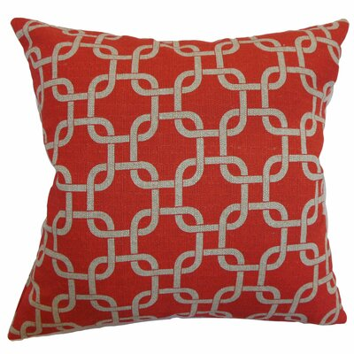 Sessums Geometric 100% Cotton Throw Pillow Color: Adventurous Red, Size: 18 H x 18 W