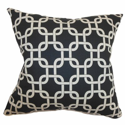 Sessums 100% Cotton Throw Pillow Color: Black Linen, Size: 20 H x 20 W