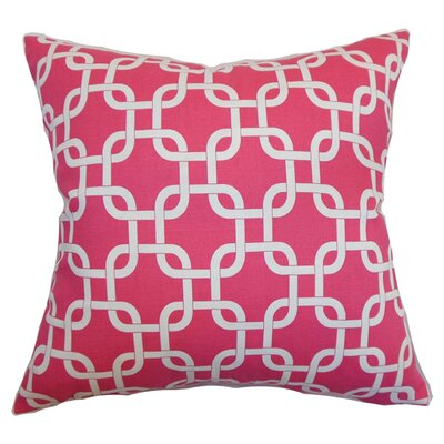Sessums 100% Cotton Throw Pillow Color: Candy Pink, Size: 18 H x 18 W