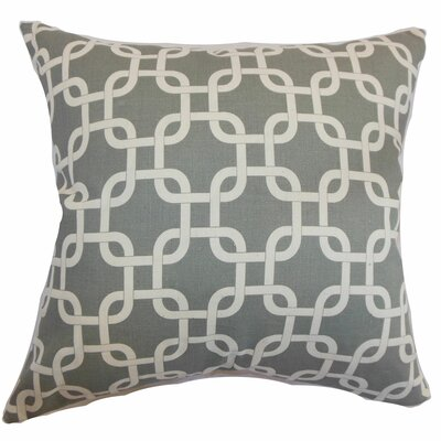 Sessums 100% Cotton Throw Pillow Color: Summerland Grey, Size: 18 H x 18 W