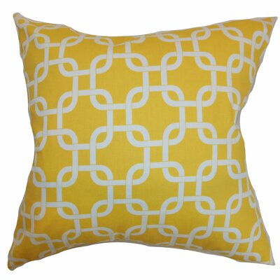 Sessums 100% Cotton Throw Pillow Color: Corn Yellow, Size: 18 H x 18 W