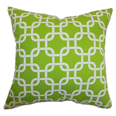 Sessums Geometric 100% Cotton Throw Pillow Color: Chartreuse, Size: 18 H x 18 W