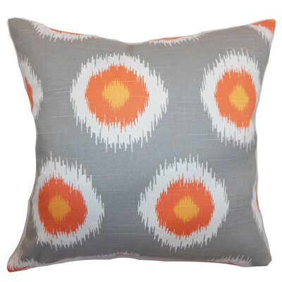 Shockey Ikat Throw Pillow Color: Mandarin, Size: 18x18