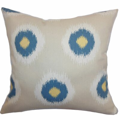 Shockey Ikat Throw Pillow Color: Denim Natural, Size: 18x18