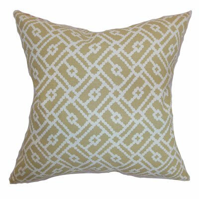 Ellefson Cotton Throw Pillow Color: Sand, Size: 18x18
