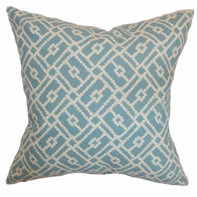 Ellefson Cotton Throw Pillow Color: Turquoise, Size: 20 x 20