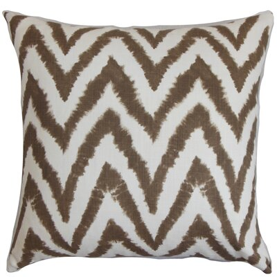 Dawkins Cotton Throw Pillow Color: Italian Brown, Size: 20 H x 20 W