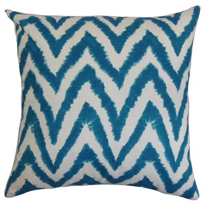Dawkins Cotton Throw Pillow Color: Aquarius Slub, Size: 18 H x 18 W