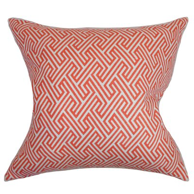 Alcala Geometric Cotton Throw Pillow Color: Coral, Size: 18 H x 18 W