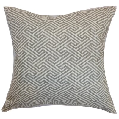 Alcala Geometric Cotton Throw Pillow Color: Dove, Size: 18 H x 18 W