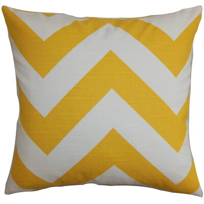 Spadafora 100% Cotton Throw Pillow Color: Yellow / White, Size: 20 H x 20 W