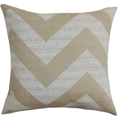 Spadafora Cotton Throw Pillow Color: Brown / Natural, Size: 18 H x 18 W