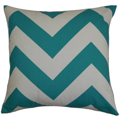 Spadafora 100% Cotton Throw Pillow Color: Turquoise, Size: 18 H x 18 W