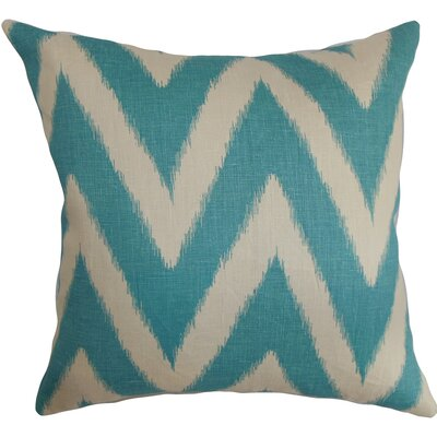 Moretti Cotton Throw Pillow Color: Aquamarine, Size: 18 H x 18 W