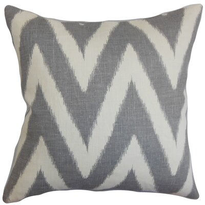 Moretti Cotton Throw Pillow Color: Grey, Size: 18 H x 18 W