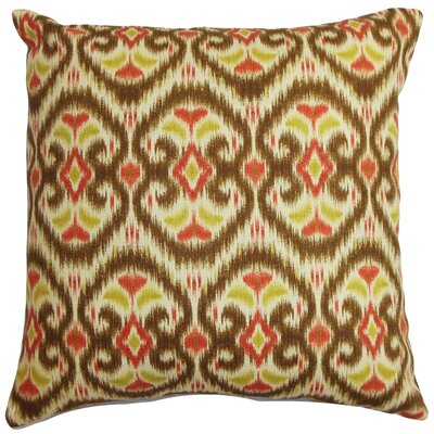 Gambino Ikat Cotton Throw Pillow Color: Harvest, Size: 18x18