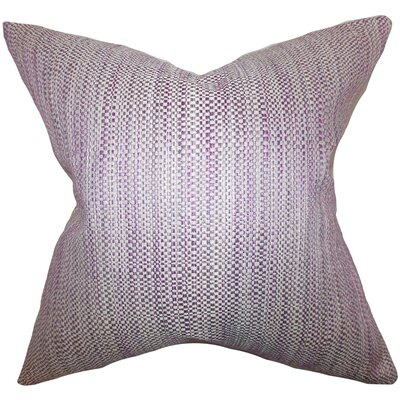 Kardos Throw Pillow Color: Purple, Size: 18x18