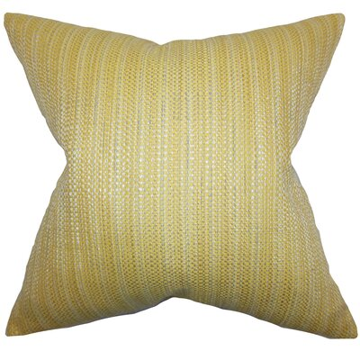 Kardos Throw Pillow Color: Yellow, Size: 18x18