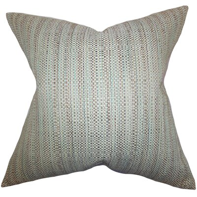 Kardos Throw Pillow Color: Aqua, Size: 20 x 20