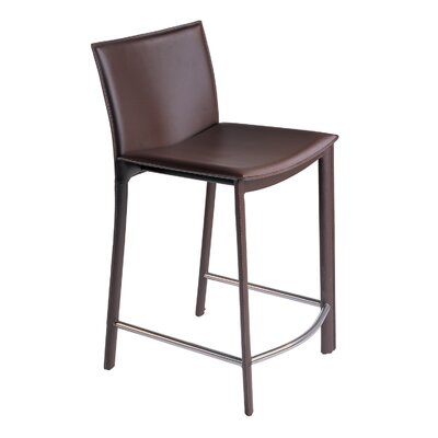 Lucier 25.5 Bar Stool Finish: Dark Brown