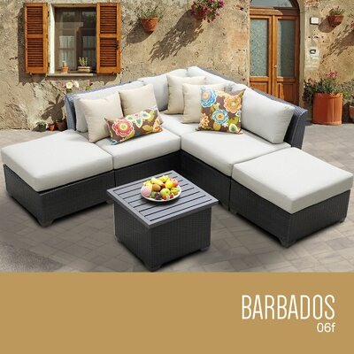 Cambell 6 Piece Deep Seating Group with Cushion Color: Beige
