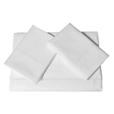 Tolson 600 Thread Count 4 Piece Egyptian Quality Cotton Deep Pocket Sheet Set Size: King, Color: White