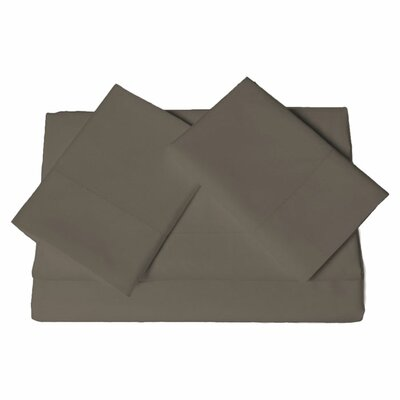Tolson 600 Thread Count 4 Piece Egyptian Quality Cotton Deep Pocket Sheet Set Size: King, Color: Chocolate