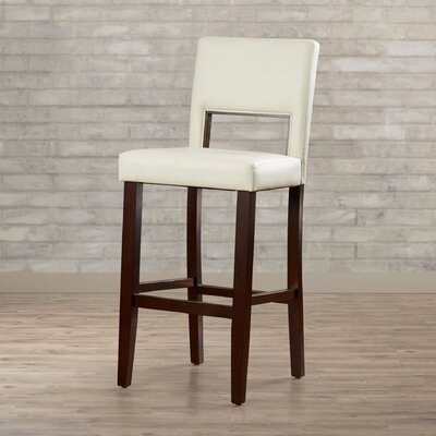 Matos 30 inch Bar Stool Upholstery: White