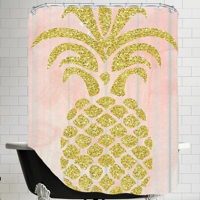 Ikonolexi Pineapple 2 Shower Curtain