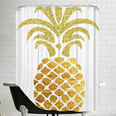 Ikonolexi Pineapple 4 Shower Curtain