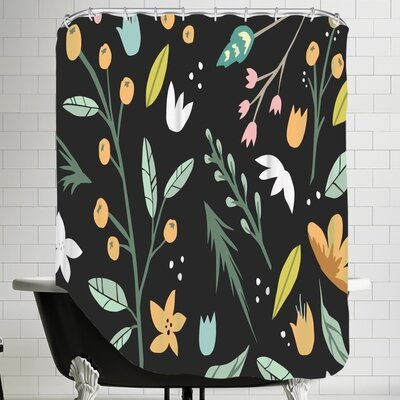 The Glass Mountain Floral Collage by The Glass Mountain Shower Curtain