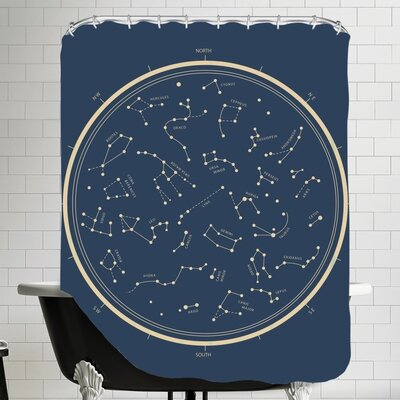 Stamant Starch Art Shower Curtain