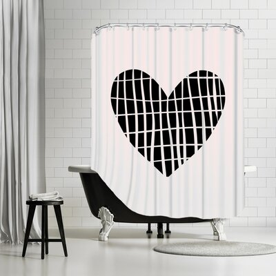 Brett Wilson Sketch Love Heart Shower Curtain