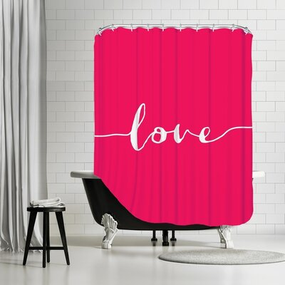 Brett Wilson Love Bubble Shower Curtain