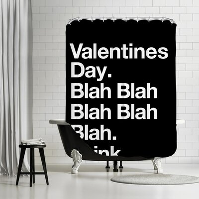 Brett Wilson Valentines Day Blah Blah Blah Shower Curtain