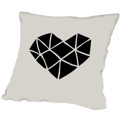 Brett Wilson Polygon Heart Throw Pillow Size: 16 H x 16 W x 2 D