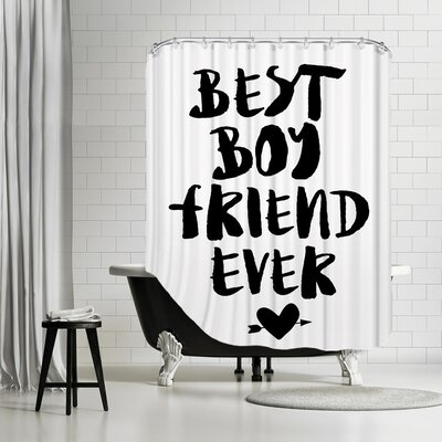 Brett Wilson Best Boyfriend Ever Shower Curtain