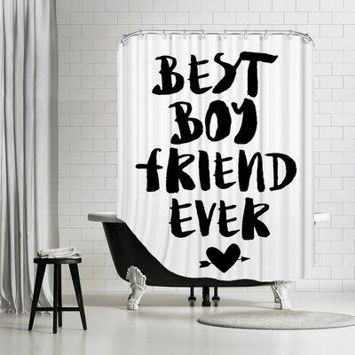 Image of Brett Wilson Best Boyfriend Ever Shower Curtain