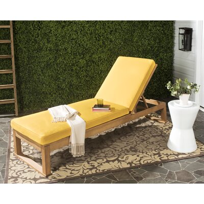 Guion Chaise Lounge with Cushion Fabric: Yellow