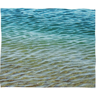 Meunier Ombre Sea Throw Blanket Size: Small