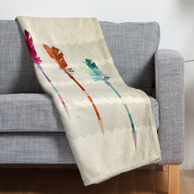 Emmanuel Feathered Arrows Throw Blanket Size: Large