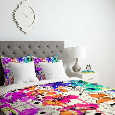 Nolting Lightweight Lost In Botanica Duvet Cover Size: Queen, Fabric: Lightweight