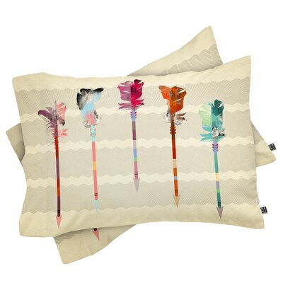 Emmanuel Feathered Arrows Pillowcase Size: Standard