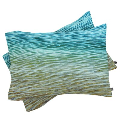 Meunier Ombre Sea Pillowcase Size: King